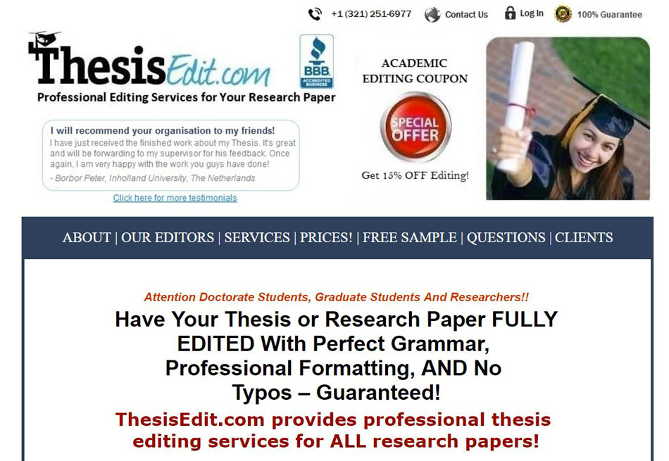 Cheap fast dissertation editing
